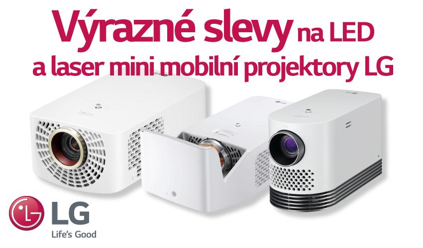 Výrazné slevy na LED a laser mini mobilní projekto
